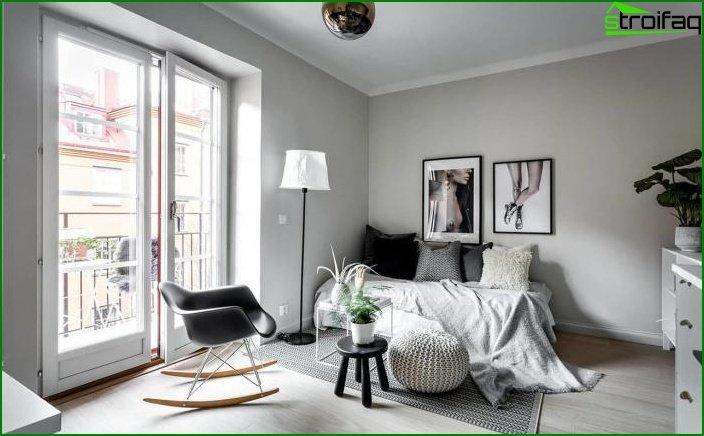 Apartamento tipo estudio de 23 m2. 6 6