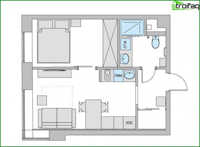 Interior de dos habitaciones? apartamentos 6