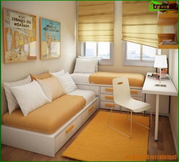 Layout for a room 10-12 sq.m 5