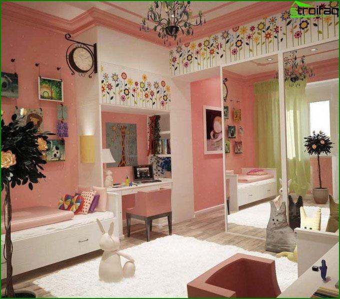 غرفة وردية لفتاة عمرها 10 سنوات