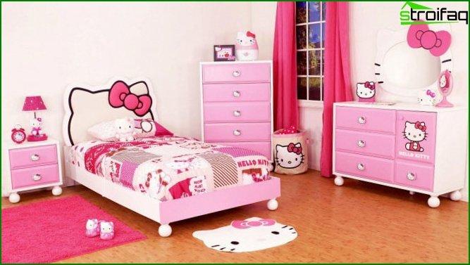غرفة وردية لفتاة مراهقة