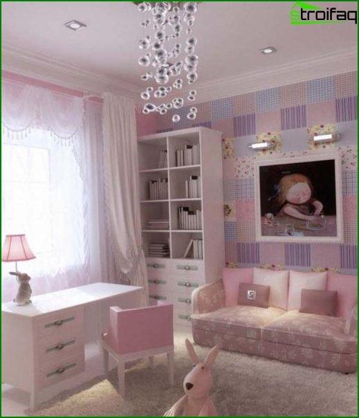 غرفة الاطفال الوردية