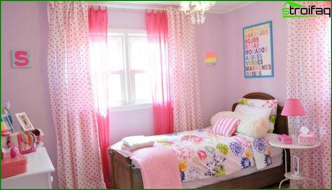 تصميم غرفة نوم وردية للبنات