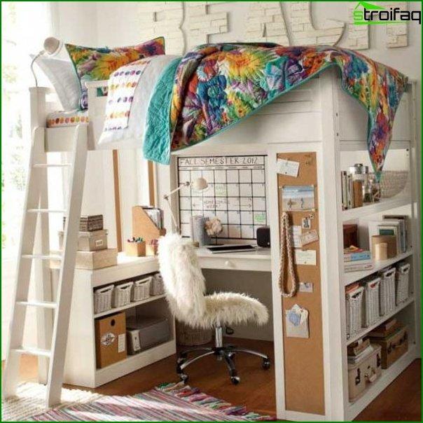 منطقة للنوم في غرفة الأطفال