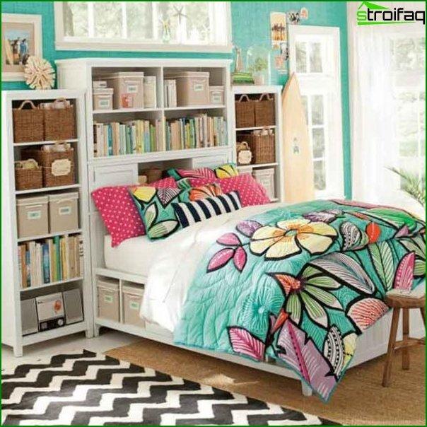 منطقة نوم في غرفة نوم الأطفال
