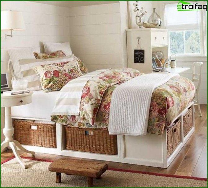 منطقة النوم في غرفة نوم الأطفال - الصورة