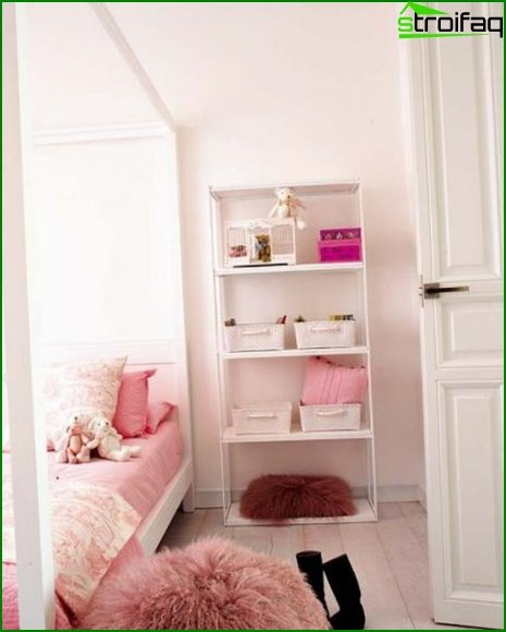 Bedroom in pink and purple shades - photo 5