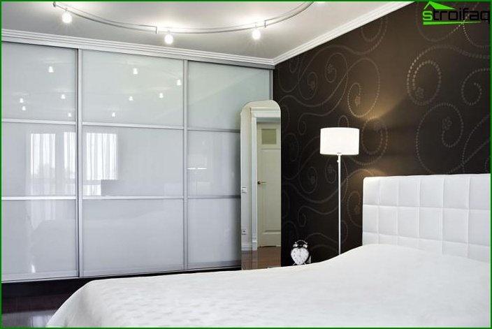 Opciones de decoración y diseño del armario de la habitación.
