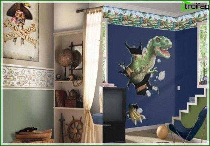 Foto de una habitación infantil para un niño de 7-8 años.