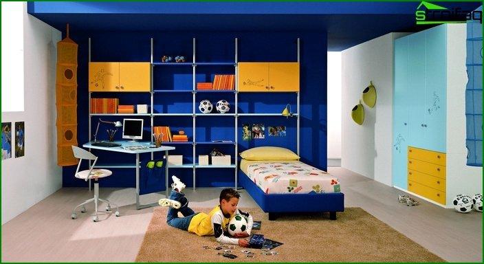 Habitación para niño de 13-15 metros.