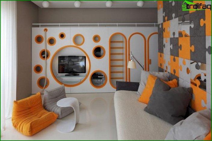 Habitación para un niño. Estilo Art Nouveau