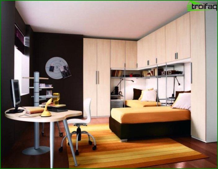 Habitación para el niño al estilo minimalista.