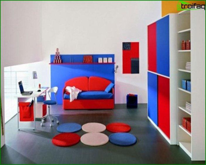 Habitación para niño, estilo minimalista.
