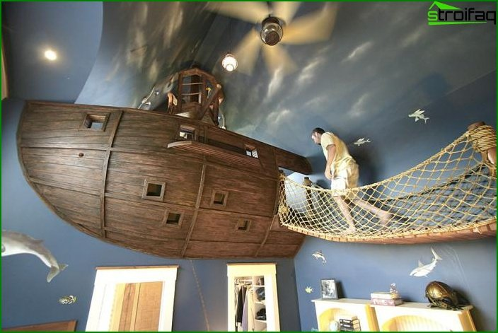 Habitación para niño, estilo marinero.