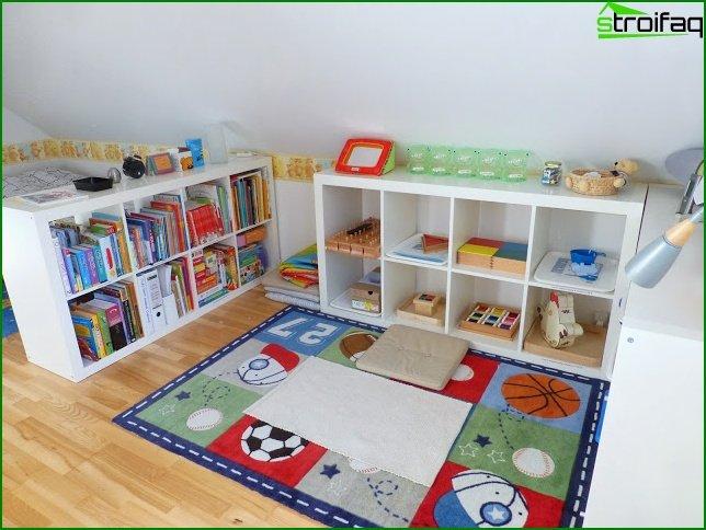 Armario en habitación de niño