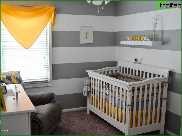 Papel pintado en la habitación del niño