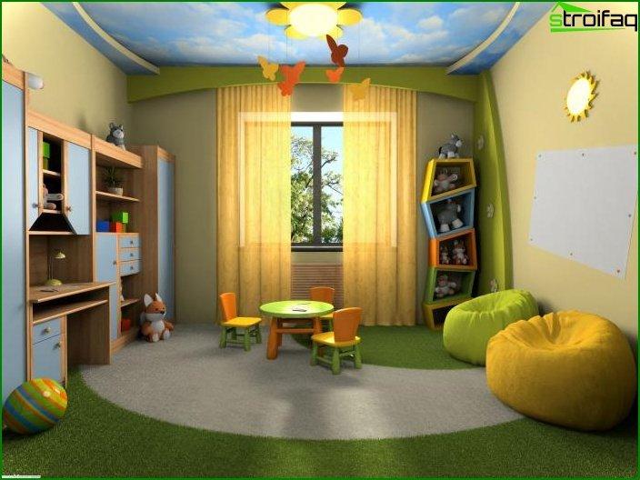 Cortinas en la habitación del niño