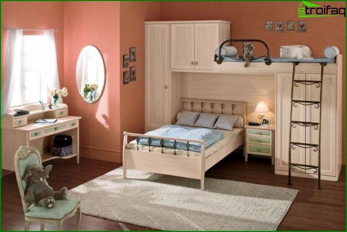 Habitación conjunta para niño y niña.