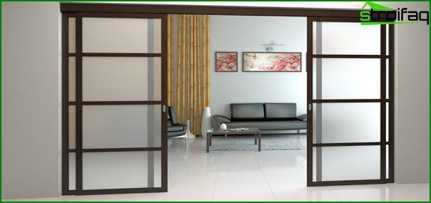 Sliding doors (wooden) - 1