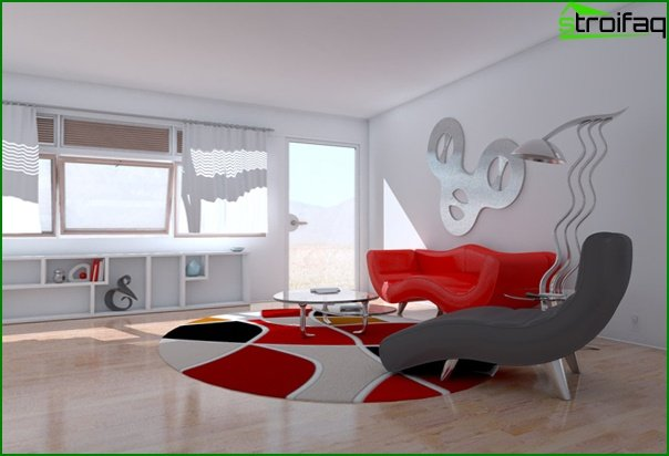 Upholstered furniture (in the living room) - 5