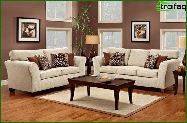 Upholstered furniture (classic sofa) - 2