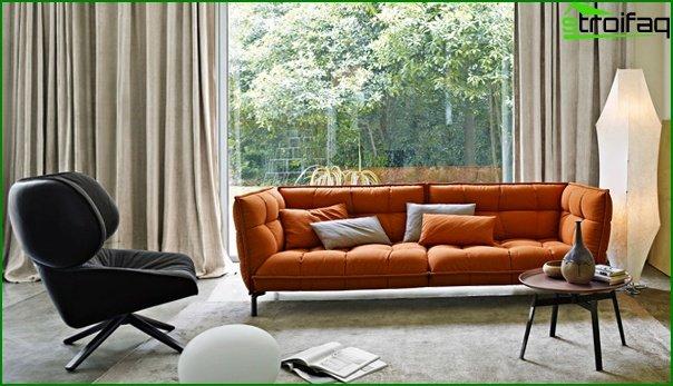 Upholstered furniture (classic sofa) - 5