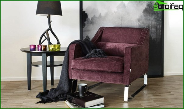 Upholstered furniture (classic armchair) - 3