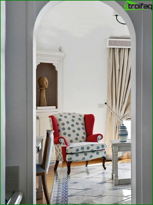 Upholstered furniture (classic armchair) - 4