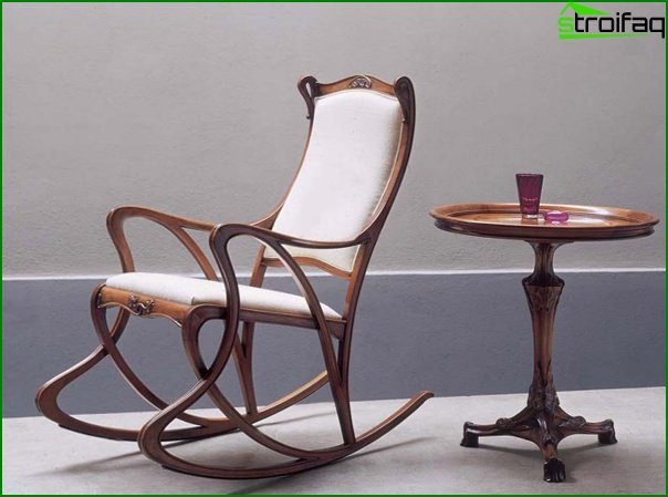 Upholstered furniture (rocking chair) - 1