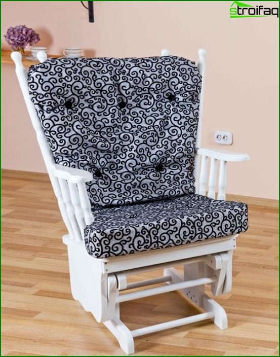 Upholstered furniture (rocking chair) - 4