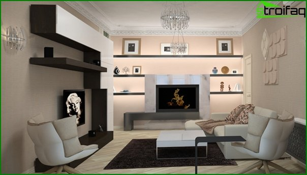 Furniture for a drawing room (modern style) - 1