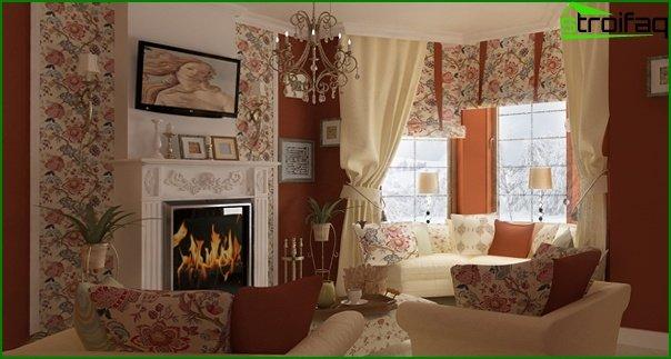 أثاث غرفة المعيشة (نمط بروفنسال) - 3