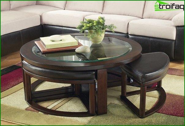 أثاث غرفة المعيشة (طاولة القهوة) - 1