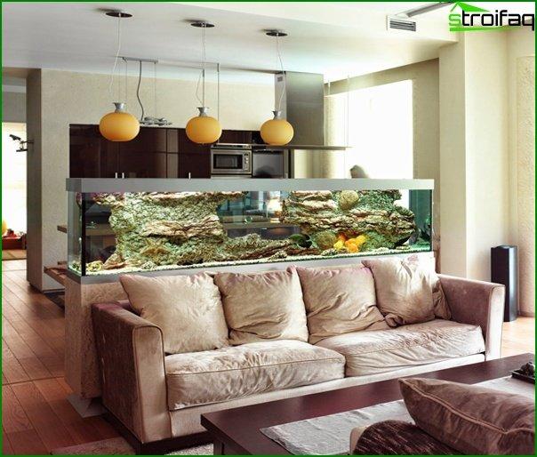 أثاث غرفة الرسم (حوض السمك) - 4
