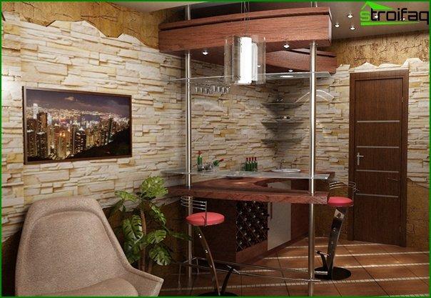 أثاث غرفة الرسم (طاولة بار) - 3