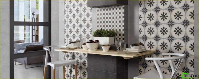 kitchen apron tile