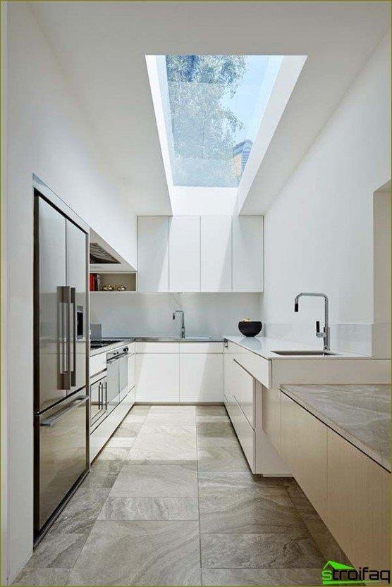 Bucătărie în stil minimalism