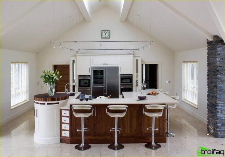 เคาน์เตอร์สีขาวในห้องครัว