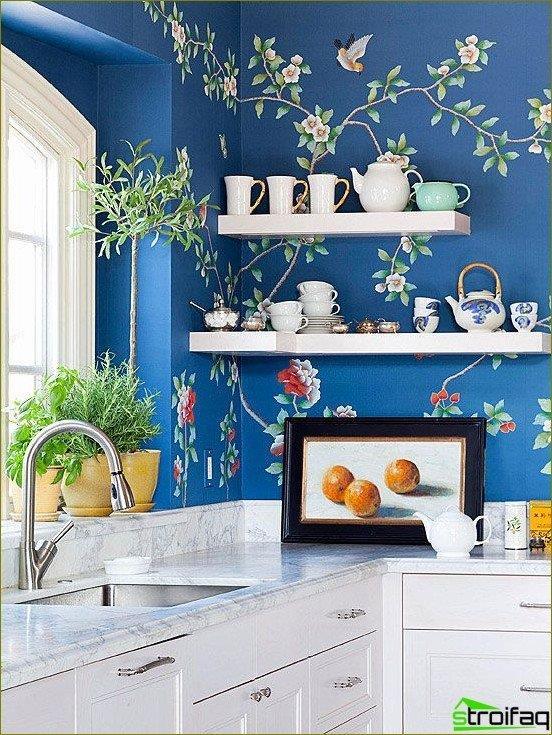 Flores en la cocina - foto