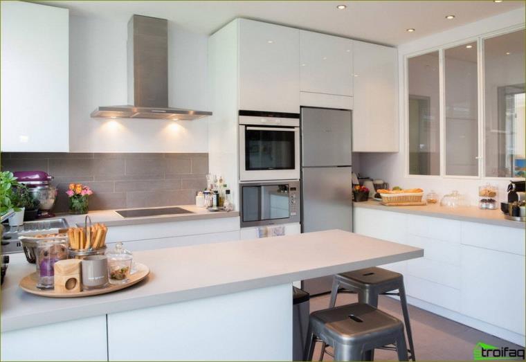 Diseño de cocina - foto con refrigerador