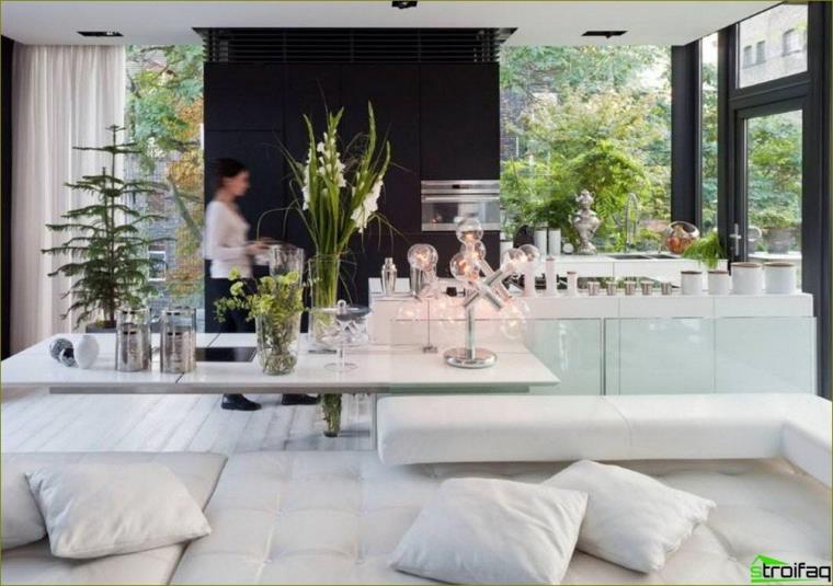 Interior de cocina glamorosa
