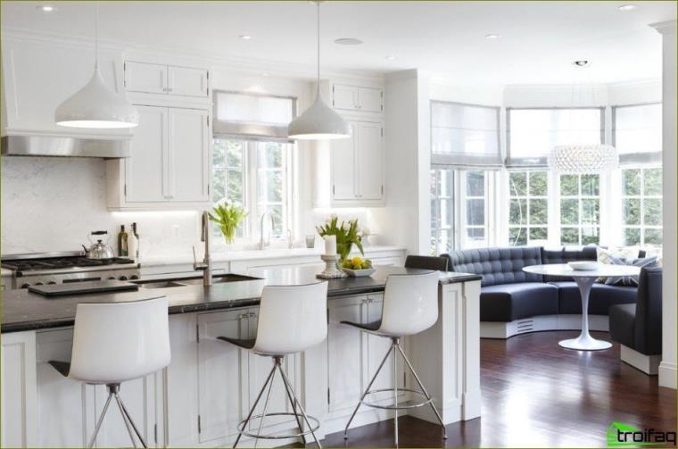 cocina con ventanal