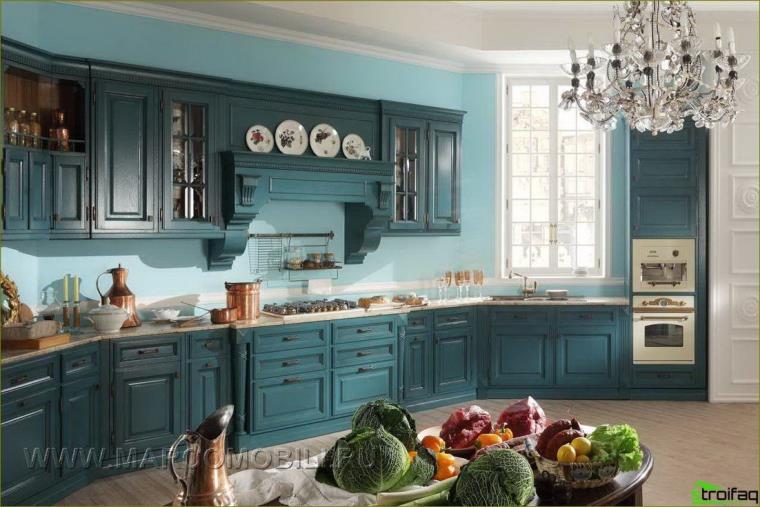 Cozinha turquesa