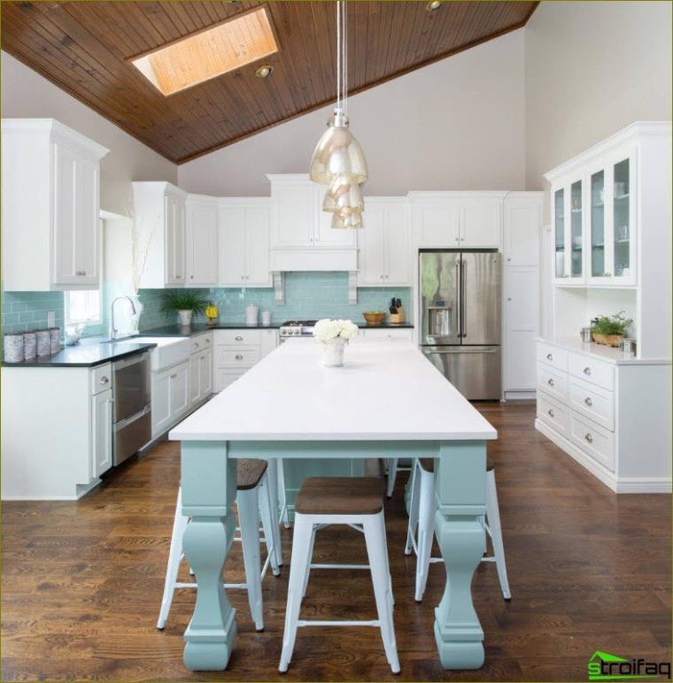 foto de cocina azul