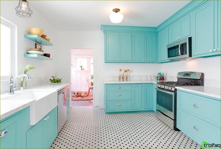 zils virtuves foto