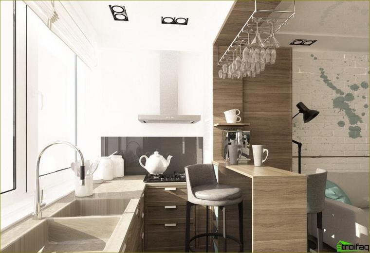 kuchyňa kombinovaná s lodžiou