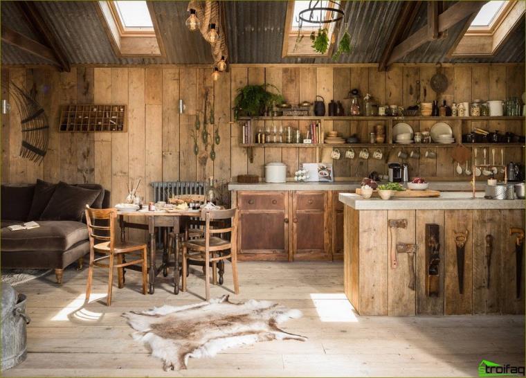 Bucătărie rustică