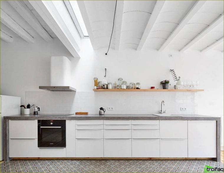 cocinas sin armarios superiores