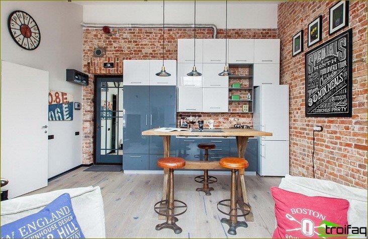 Muren in de keuken. Foto
