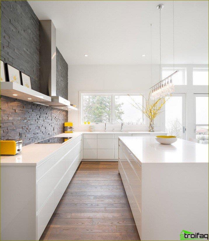 Ściany w kuchni. Zdjęcie